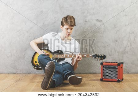 White Man With Guitar