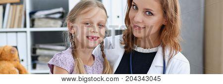 Little Child At Pediatrician Reception