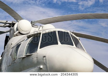 Big White Cargo Helicopter