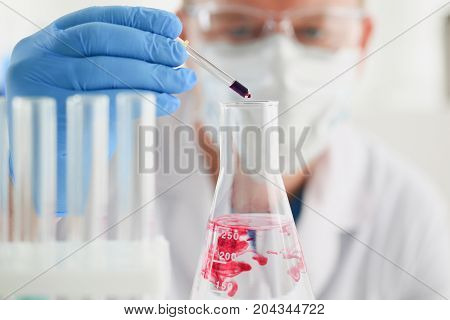 A Specialist In The Laboratory For Taking Samples From People