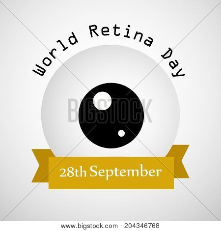 illustration of Retina with World Retina Day 28th September text on the occasion of World Retina Day