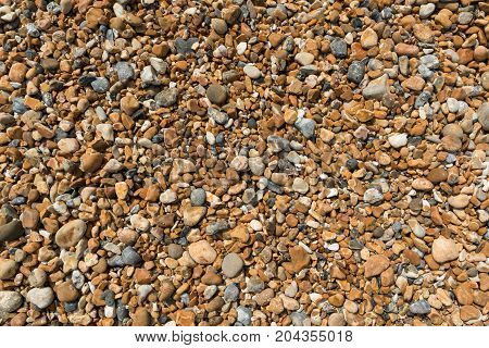 Fild of gravel, texture, background pebbles stones