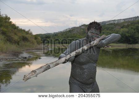 Man Mud Bath Game Spa Gun Fun Resort