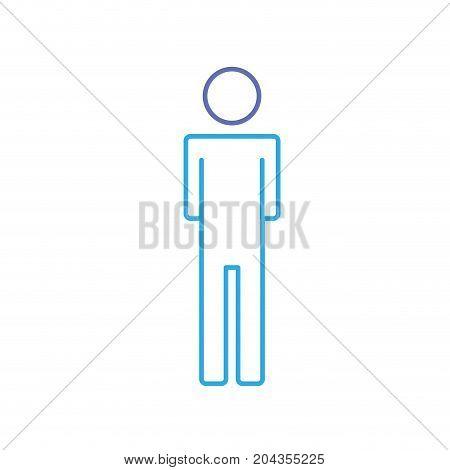 line man pictogram icon flat vector illustration