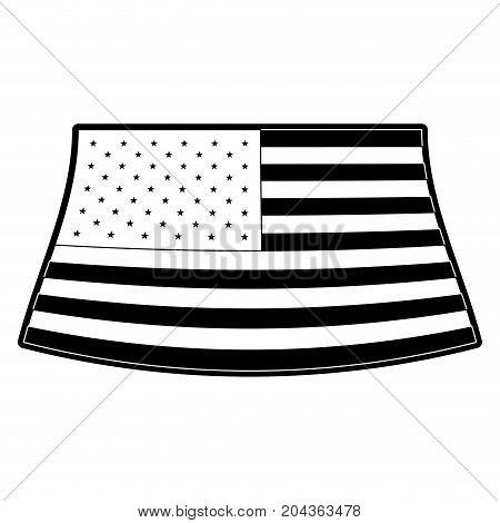 flag united states of america design in monochrome silhouette vector illustration
