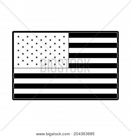 flag united states of america flat icon in monochrome silhouette vector illustration
