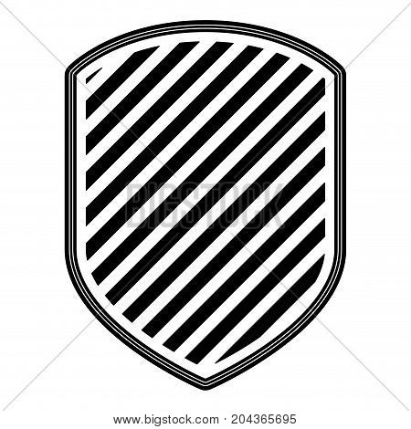 emblem with striped in monochrome silhouette vector illustration