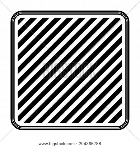 square emblem striped in monochrome silhouette vector illustration