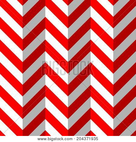Red and White Zigzag Seamless Pattern. Vector illustration