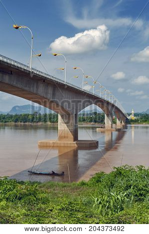 The Third Thai–lao Friendship Bridge Over The Mekong River Connecting Nakhon Phanom Province In Thai