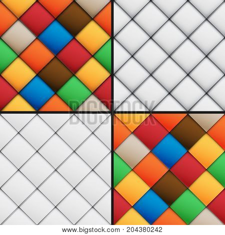 Patchwork Set Seamless Patterns