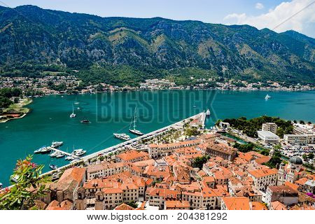 The beauty of Kotor Bay in Montenegro