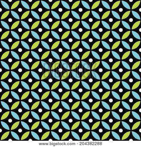 Seamless Intersecting Geometric Vintage Circle Pattern Background