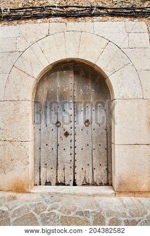 Old door to Valldemossa, Spain Palma de Mallorca