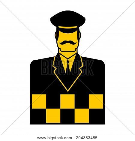 Taxi Driver Icon Cabbie Sign. Cabdriver Symbol. Vector Illustration