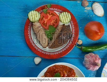 Mediterranean Cuisine Italian Style Pepper Steak