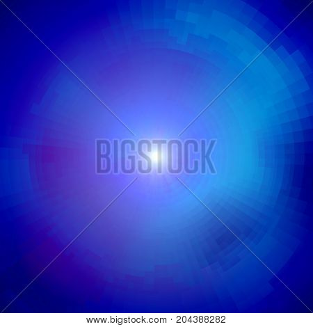 Radial abstract matrix background stylized galaxy with glow. The light at the end of the tunnel