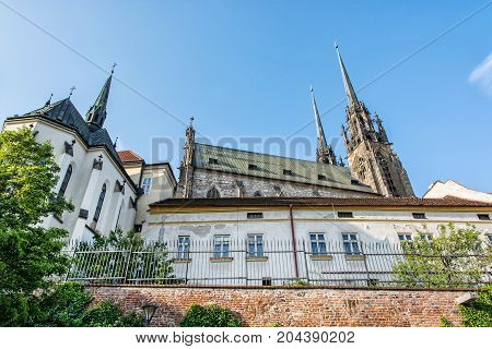 Cathedral of St. Peter and Paul Brno Moravia Czech republic. Religious architecture. Travel destination. Beautiful place.