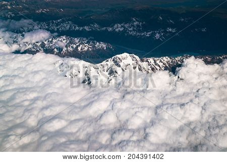 Aerial View Of Mt Cook, New Zealand