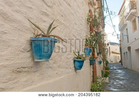 Narrow Streets In The Village Of Cadaques, Catalonia, Spain