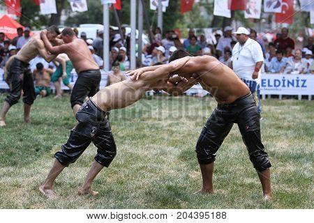 Oil Wrestling In Istanbul