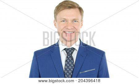 Smiling Businessman Looking At Camera With Reliability
