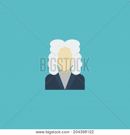Flat Icon Judge Element. Vector Illustration Of Flat Icon Lawyer Isolated On Clean Background