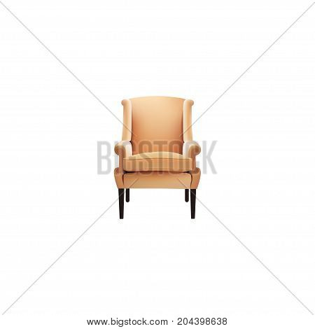 Realistic Chair Element. Vector Illustration Of Realistic Comfortable Isolated On Clean Background