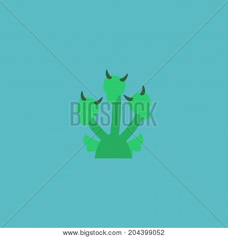 Flat Icon Hydra Element. Vector Illustration Of Flat Icon Snake Isolated On Clean Background