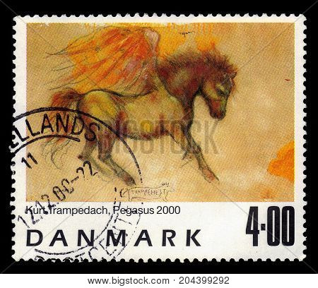 DENMARK - CIRCA 2000: A stamp printed in Denmark shows a painting