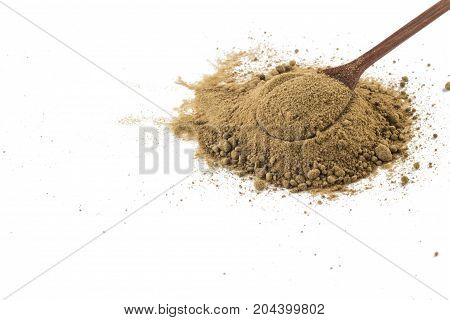 Mascavo Brown Sugar In A Spoon