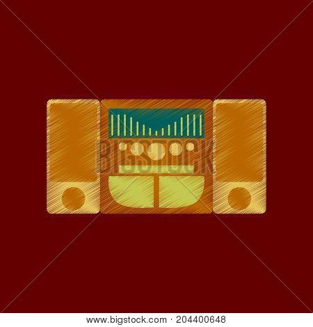 flat shading style icon music Center equipment