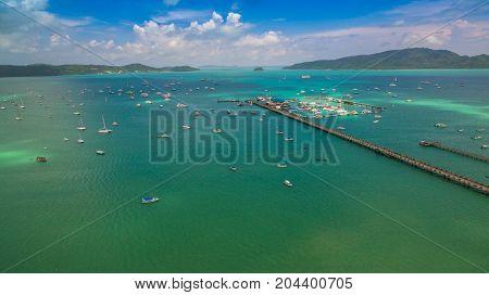 Aerial Photography At Chalong Marina
