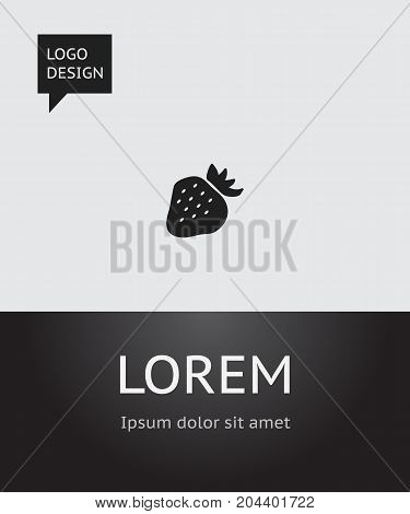 Vector Illustration Of Berry Symbol On Berry Icon