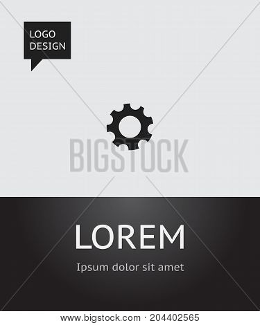 Vector Illustration Of Network Symbol On Gear Icon