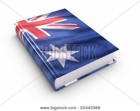 Book Covered With Australian Flag