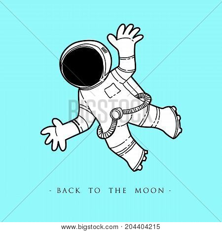 Astronaut in outer space vector illustration design.