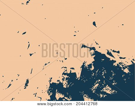Grunge Vector Texture Template. Dark Messy Dust Overlay Distress Background. Abstract Dotted, Scratched, Vintage Effect With Noise And Grain