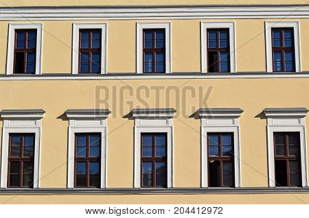 Windows of the Reformed College Debrecen Hungary