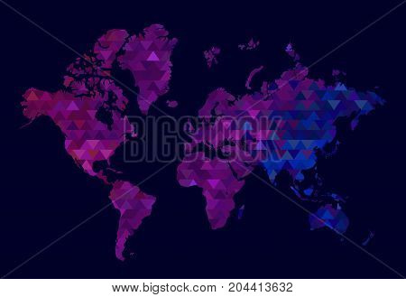 World Map and Information Graphics. triangle world Map