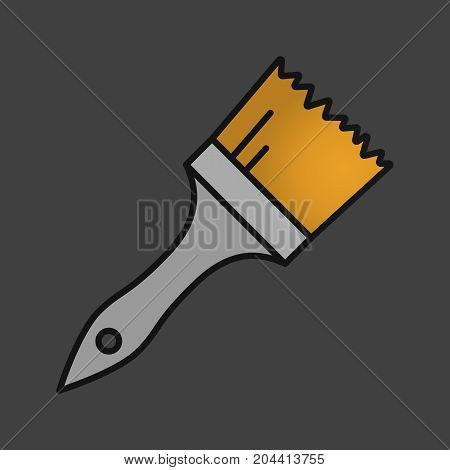 Paint brush color icon. Construction paintbrush. Isolated vector illustration