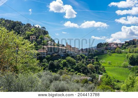 Village Gilette in Regional nature park of the Azure PreAlps France