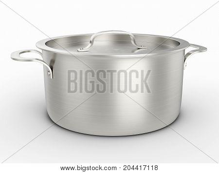 Cooking Pot 3D Illustration