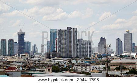 Panorama Of Bangkok Cityscape, Thailand