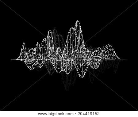 Equalizer Isolated. Abstract Music Graph. Vector Illustration