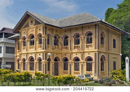 Nakhon Phanom, Thailand - May 2017: Old Classic Colonial-style Building, Home To The Edouard Namlap