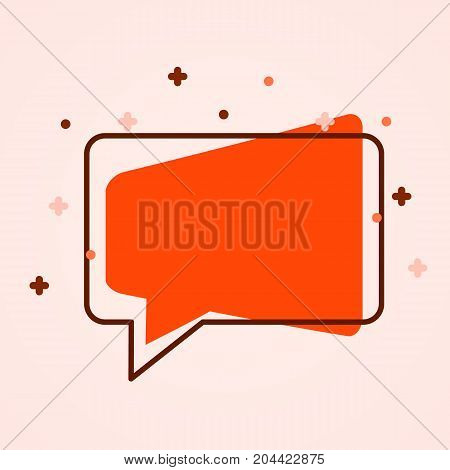 Modern chat bubble icon. Flat style. Social media concept. Vector illustration