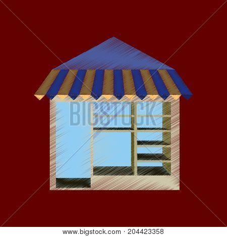 flat shading style icon shop storefront architecture