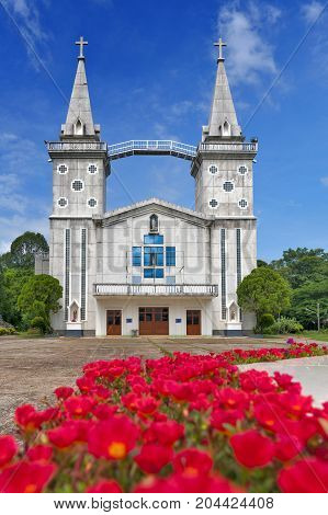 Saint Anna Nong Saeng Catholic Church religious landmark of Nakhon Phanom built in 1926 by Catholic priests