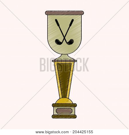 flat shading style icon Golf cup championship